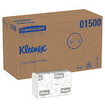 Kleenex C-Fold Paper Towels 1-Ply White - 1Case, 16pk, 2,400ct