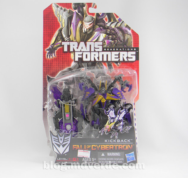 Transformers Kickback Deluxe - Generations Fall of Cybertron - caja