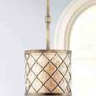 "Regency Hill P0363 Jeweled Golden Bronze 9"" Wide Mini Pendant Light"