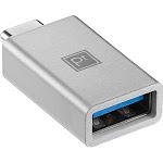 Platinum - USB A to USB C Adapter, USB 3.0 Spec - Gray