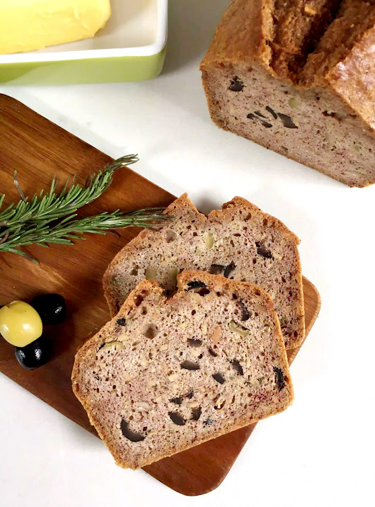 Grain Free Bread with Olives & Rosemary - Emma Eats & Explores