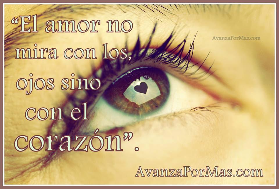 Postal El Amor No Mira Con Los Ojos Sino Con El Corazon