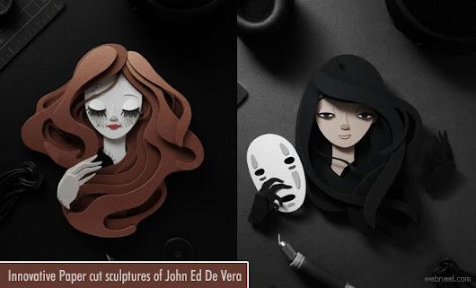 Innovative Paper cut sculptures of John Ed De Vera