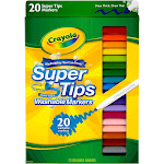 Crayola 20ct Super Tips Washable Markers