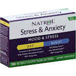 Natrol Stress & Anxiety, Day & Night, Tablets, Blister Packs - 2 - 10 tablet packs [20 tablets]