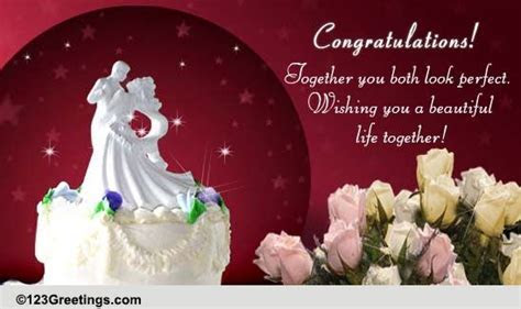 Wedding Congratulations Cards, Free Wedding