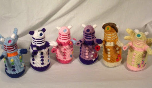 Crocheted My Little Daleks: Friendship Is Extermination
