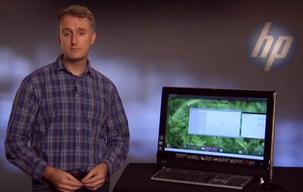 HP takes Open webOS 10 live, shows it supersized on a TouchSmart video