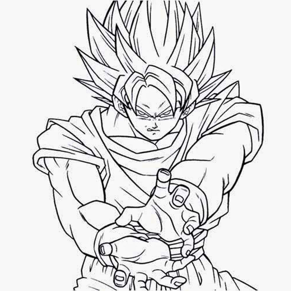 Dibujos Para Colorear Goku Imagesacolorierwebsite