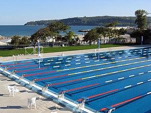 Olympian Swimming pool in Sea Garden, Varna, B...