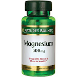 Natures Bounty Magnesium, 500 mg, Tablets - 100 tablets