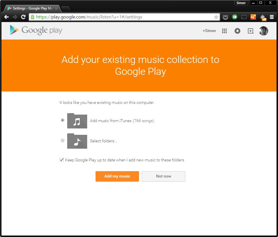 Google Play Music iTunes import
