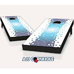AJJCornhole 107-PixelWarp Pixel Warp Theme Cornhole Set with Bags - 8 x 24 x 48 in.
