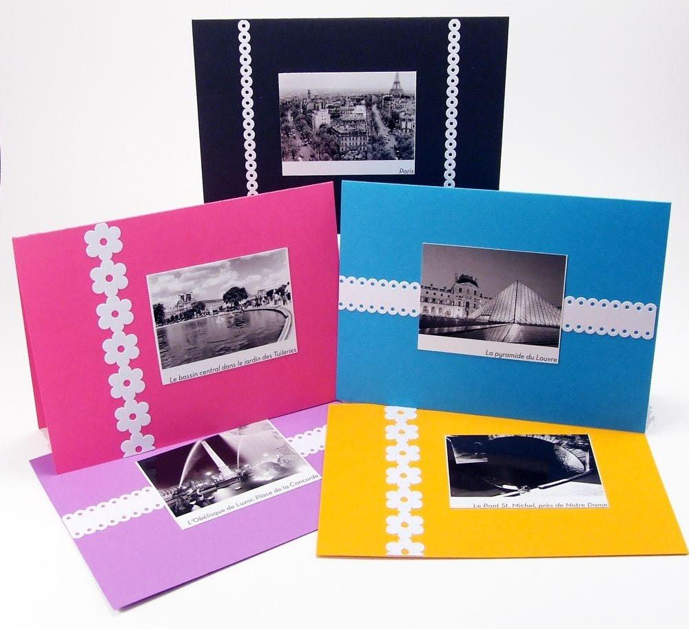 CLEARANCE Upcycled Paris Calendar Cards