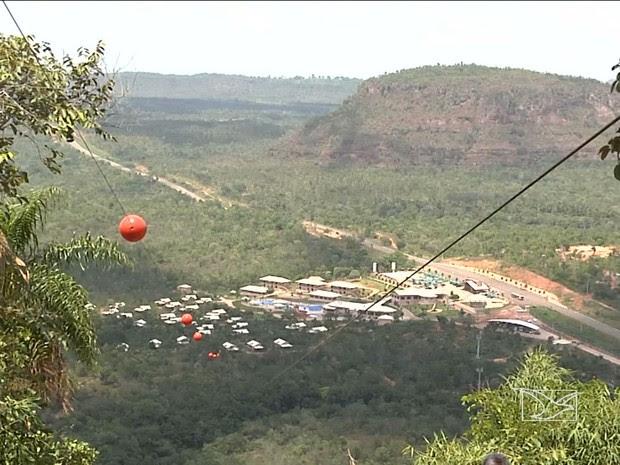 Setor de hotéis e pousadas em Carolina, no sul do Maranhão (Foto: Reprodução/TV Mirante)