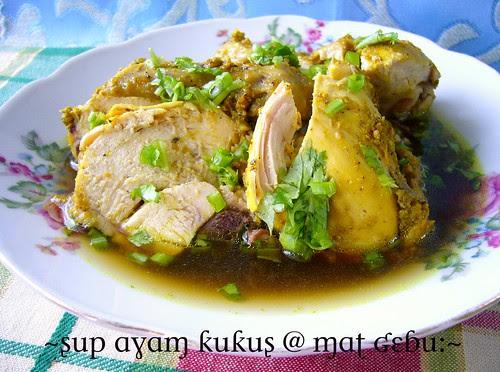 sup ayam kukus