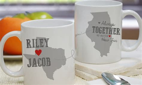 personalized long distance relationship mug