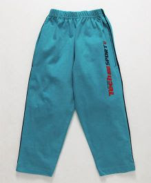 Taeko Full Length Track Pant Tech Sport Print - Aqua Blue