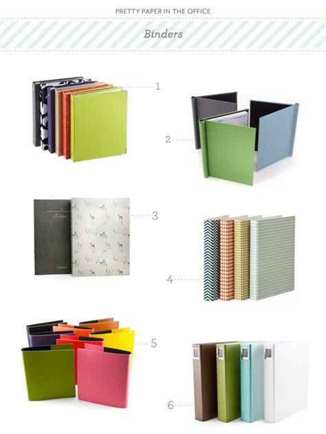 Pretty Paper in the Office: Binders