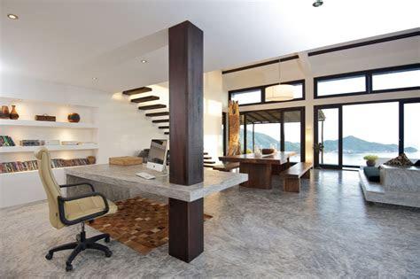 modern neutral home office space interior design ideas
