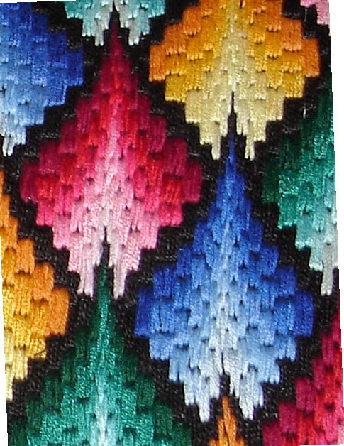 "Cushions technique ""Bargello"""
