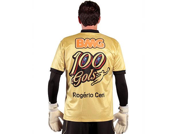 Rogério Ceni lança camisa especial do gol 100 (Foto: Divulgação / VIPCOMM)