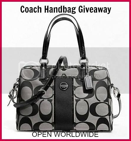 Enter to win the Coach Handbag Giveaway. Ends 12/18.