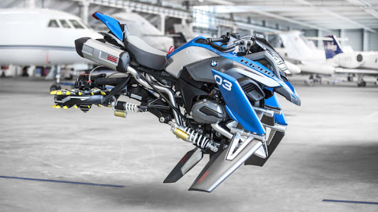 BMW built a full-size flying motorcycle that's based on a Lego kit