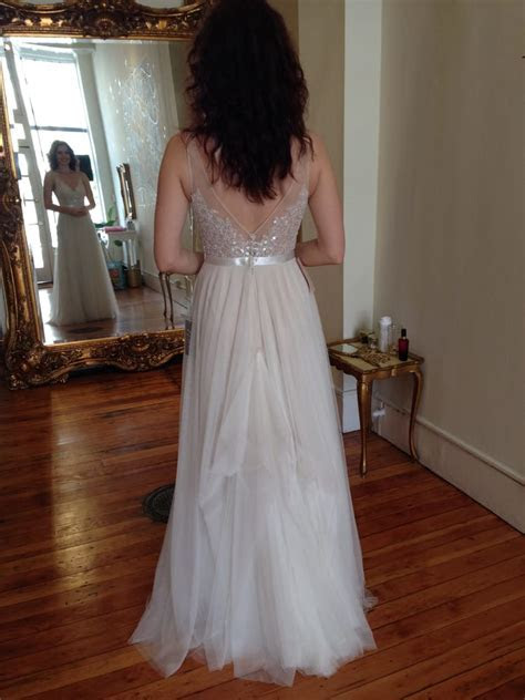 9 point bustle by Marissa on a tulle Watters gown   Yelp