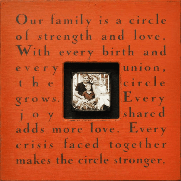 Our Family Is A Circle Photobox Sugarboo Co