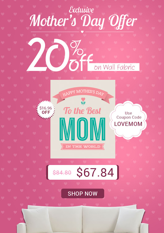 ❤ Mother's Day Gift: 20% Off on Wall Fabric ❤