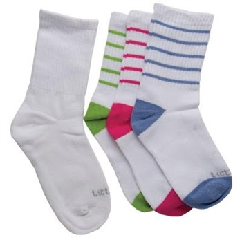 TicTacToe Crew Kids Socks with Ribbed Welt for Girls - 3 Pair