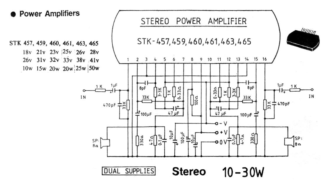 Stk Power Amplifier Circuits 300w Circuit Diagram Images