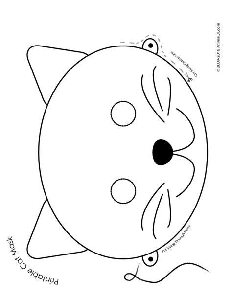 cat mask coloring page woo jr kids activities