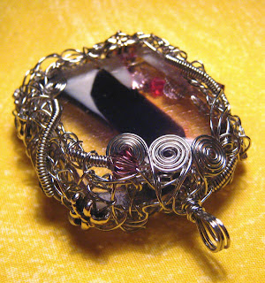 wire wrapped Square Engtangled Bezel