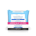 Neutrogena Cleansing Fragrance Free Makeup Remover Facial Wipes Daily Cleansing Facial Towelettes For Waterproof Makeup Alcohol-free Value Twin Pack