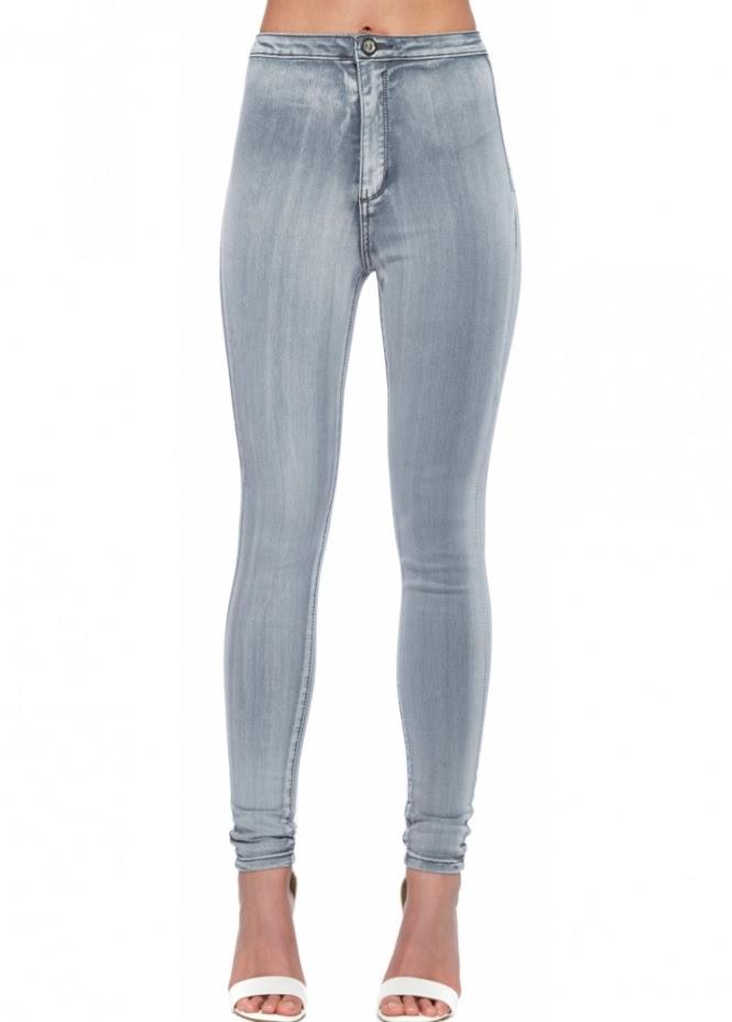 light grey skinny jeans  ladies grey stretch high waisted