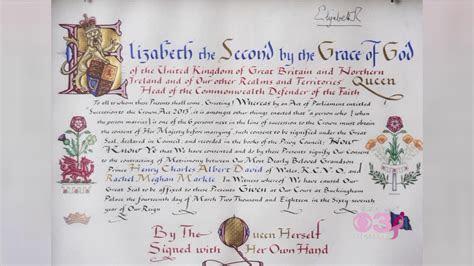 Buckingham Palace Releases Queen Elizabeth?s Hand Written