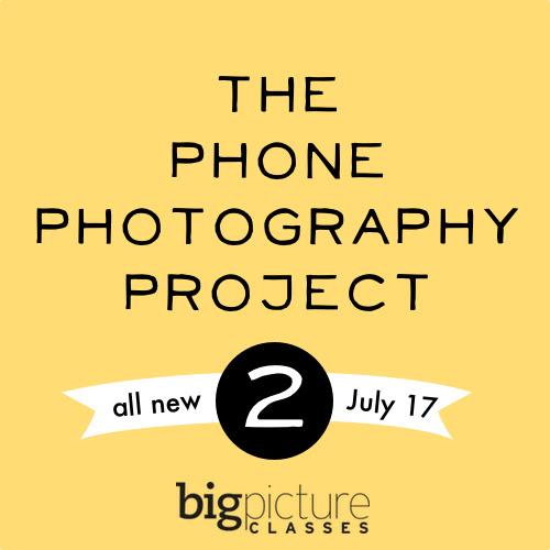 8 Days of Giveaways! Day 3:  Big Picture Class Phone Photography Project 2