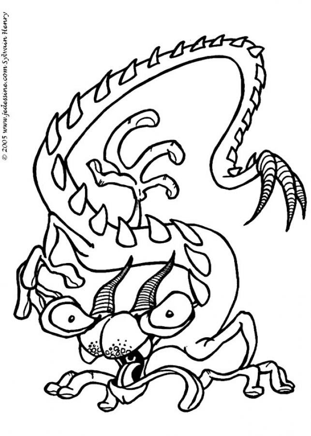 Dibujos Para Colorear El Monstruo De Tres Cabezas Eshellokidscom