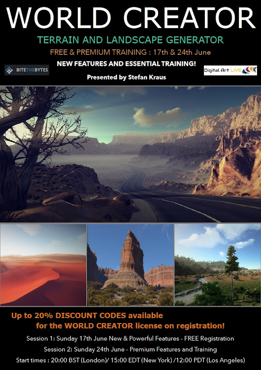 World Creator 2 Terrain Generator : Essential Free and Premium Training
