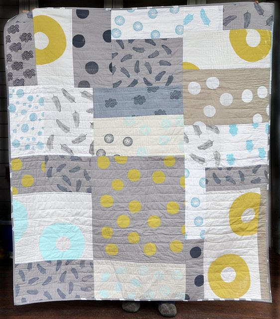 misprint improvisational quilt by leslie.keating, via Flickr