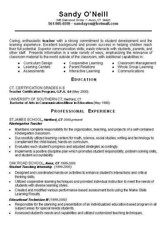 Resume profile samples for teachers cover letter library assistant uk cover letter hr generalist