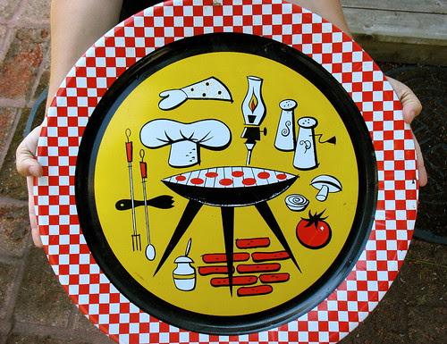 Fun metal food tray