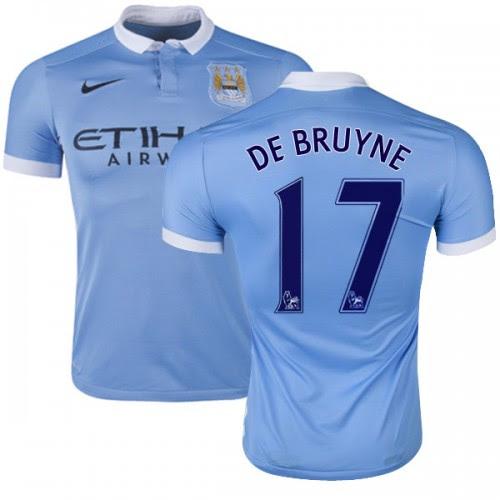Men's 17 Kevin De Bruyne Manchester City FC Jersey - 15/16 ...