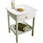 Winsome Wood Curved End Table, White