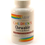 Children's Chewable Vitamins & Minerals Blk Cherry By Solaray - 120 Chewables