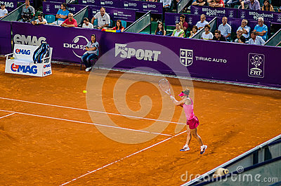 Simona Halep During The QF Of Bucharest Open WTA Editorial Photography - Image: 42424242