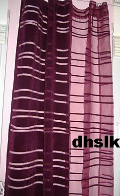 New IKEA ANDREA RAND Curtains Drapes PURPLE Mod RETRO 2 Panels