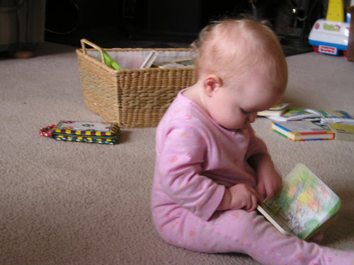 Abby with books